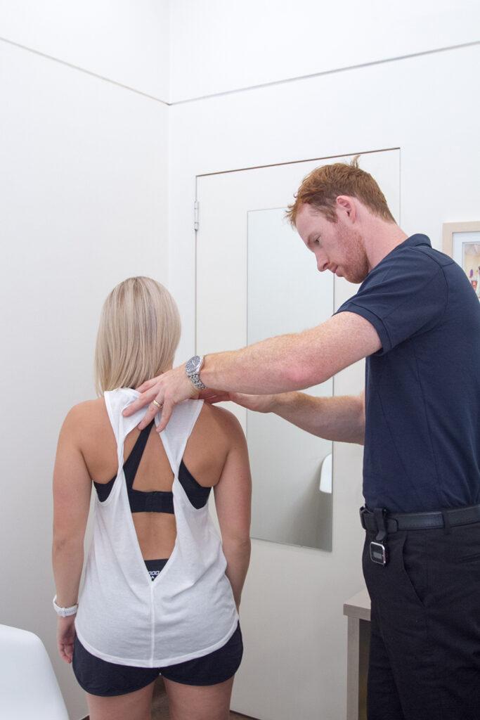 Woman Seeking Shoulder Pain Relief